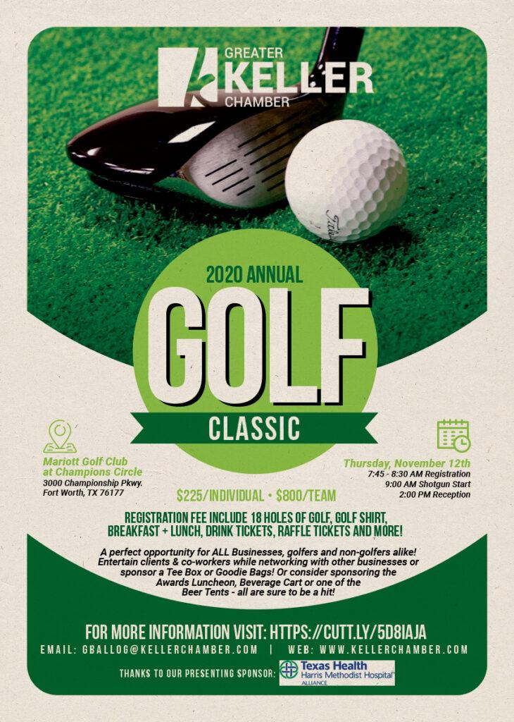 Greater Keller Chamber Golf Tournament 2020 flyer
