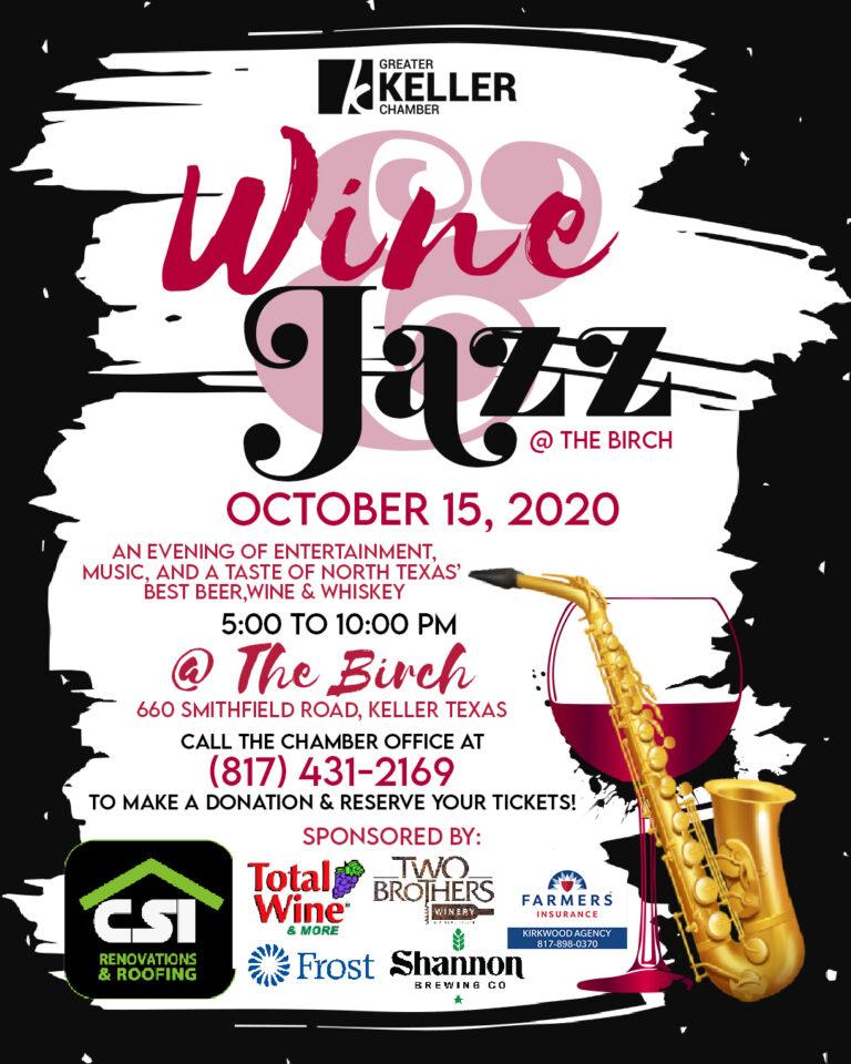 Keller Chamber Wine and Jazz 2020 flyer